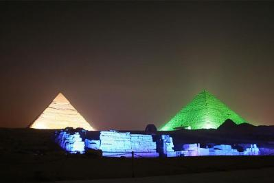 by plane from sharm el sheikh to cairo to watch the light and sound show