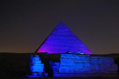 Afternoon and evening in cairo from hurghada to see sound and light show at pyramids